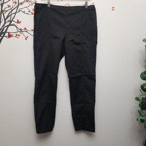 ST. JOHN Ankle Zip Black Ponte Pants